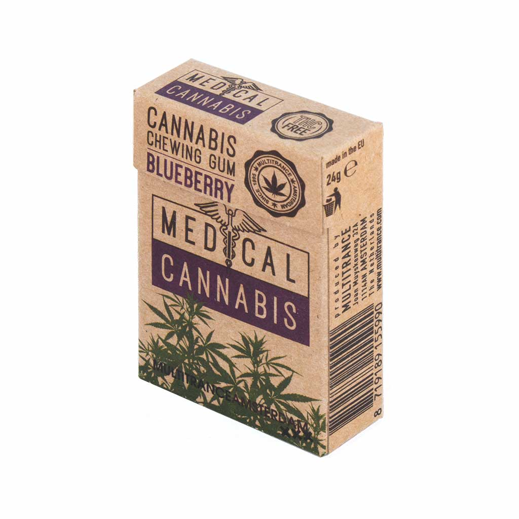 Medical Cannabis Blueberry Chewing Gum (Zucker Frei)