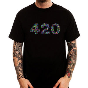 420 Cannabis Glitch Hallucination T-Shirt