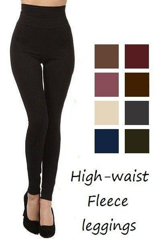 HIGH WAIST, FLEECE LINED LEGGINGS