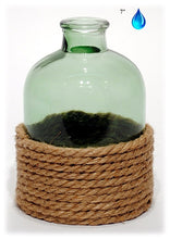 GREEN BOTTLE W/ ROPE, 7