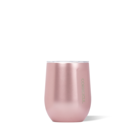 CORKCICLE 12 OZ. STEMLESS, ROSE METELLIC