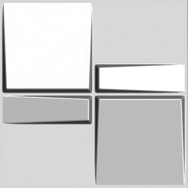 Three D wall Panels Wave Paintable Paneling, White, 12 Tiles 32 SF
