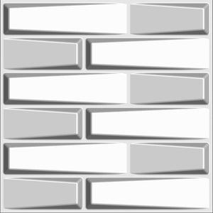 "Decorative 3D Wavy Wall Panels, 19.7""x19.7"" White, 12 Tiles 32 SF"