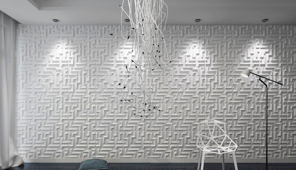 Decorative 3D Wall Panels Cornus Angustata Design, 12 Tiles 32 SF