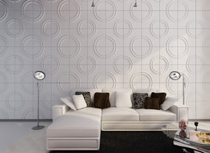 "Decorative 3D Wall Panels 24.6""x31.5"" Wave Board, 6 Tiles 32 SF"