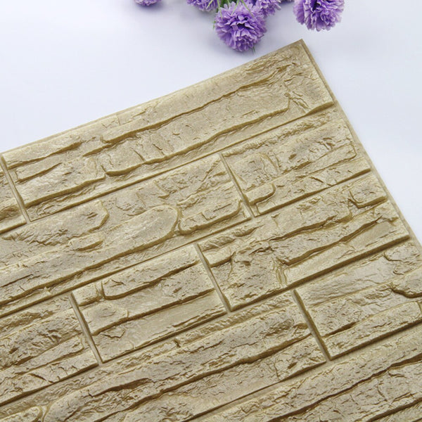 New Hot DIY 3D Brick PE Foam Wallpaper Panels Room Decal Stone Decoration Embossed Stickers Muraux Muursticker Wall Decor