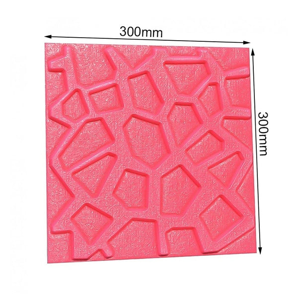 3D Self-Adhesive Wallpaper Panel For TV Wall Sofa Background Wall Decor 30x30cm Waterproof PE Foam Bricks Wall Stick