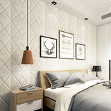 3D Wall Stickers PE Foam Self-adhesive Waterproof Wallpaper Decal Peel and Stick Art Wall Panels Wall Decoration (Diamond)