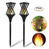 2pc 96 LED 11LM Solar Waterproof Flame Flickering Lawn Lamp Torch Light Realistic Dancing Flame Light Outdoor Garden Decor Light
