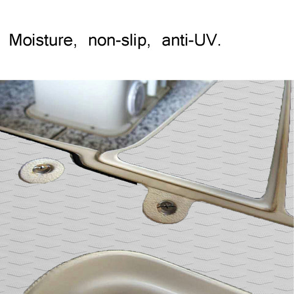 Self-Adhesive 900 x 2000 x 6mm EVA Foam Faux Teak Decking Sheet Marine Boat Yacht Decking Sheet DIY Car Protective Floor Mat