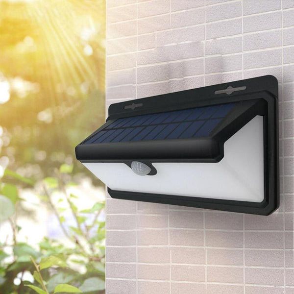 100 LED Solar Lamp Flame Light Waterproof PIR Motion Sensor Solar Light Outdoor Yard Pathway Garden Decoration Wall Lamp