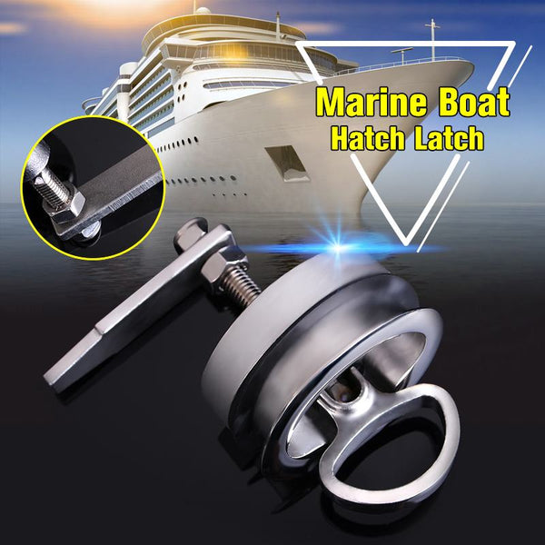 61mm Silver Marine Boat Floor Buckle Hatch Latch Flush Turning Lift Handle 316 Stainless Steel NON Locking Marine Hardware