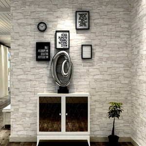 Vintage Stone Brick Wallpaper For Walls Roll Faux 3D Wallpapers For Living Room Restaurant Wall Paper