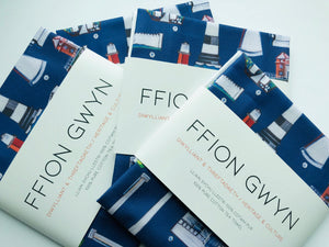 Ffion Gwyn Tea Towel - Lighthouses - Heritage & Culture