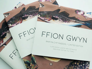 Ffion Gwyn - Heritage Tea Towel Collection - Fish Of The Sea / Pysgod y Môr