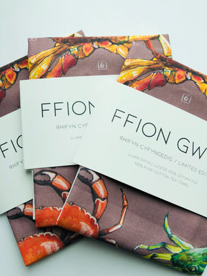 Ffion Gwyn - Heritage Tea Towel Collection - Crabs/Crancod
