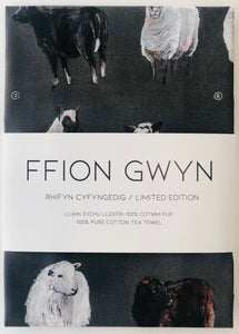Ffion Gwyn - Heritage Tea Towel Collection - Welsh Sheep/Defaid Cymru