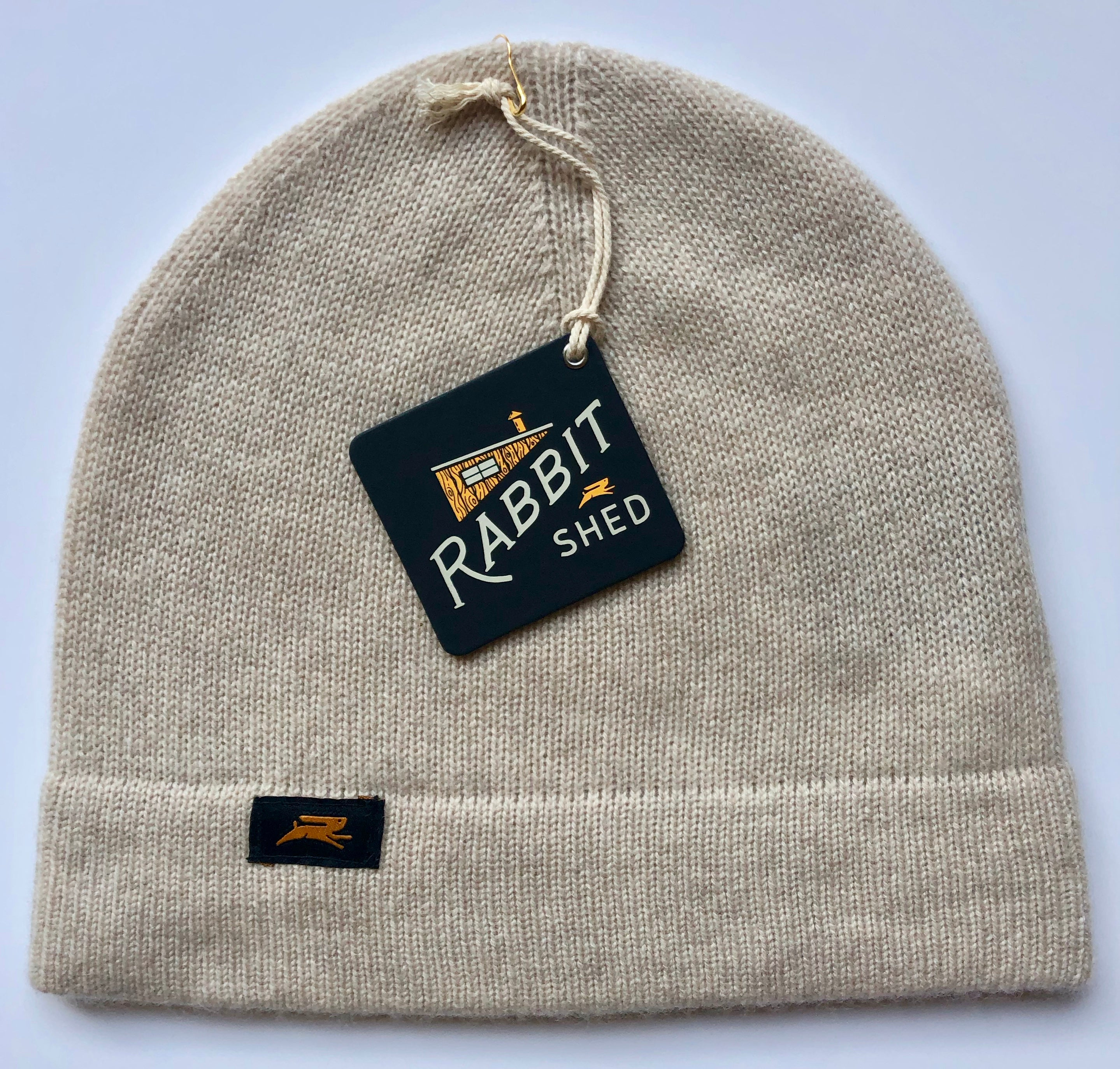 Rabbit Shed Unisex Cashmere Beanie - Oatmeal