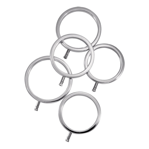ElectraStim Solid Metal Cock Ring Set 5 Sizes