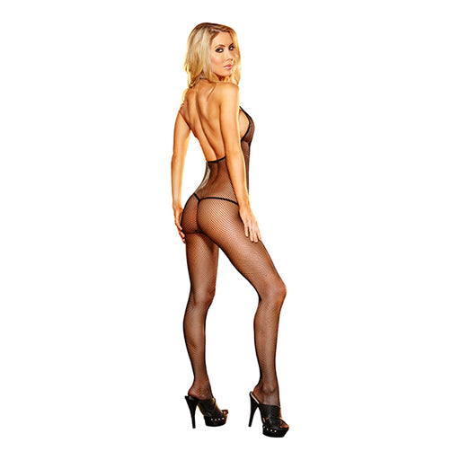 Lapdance Deep V Kruisloze Bodystocking Zwart One Size