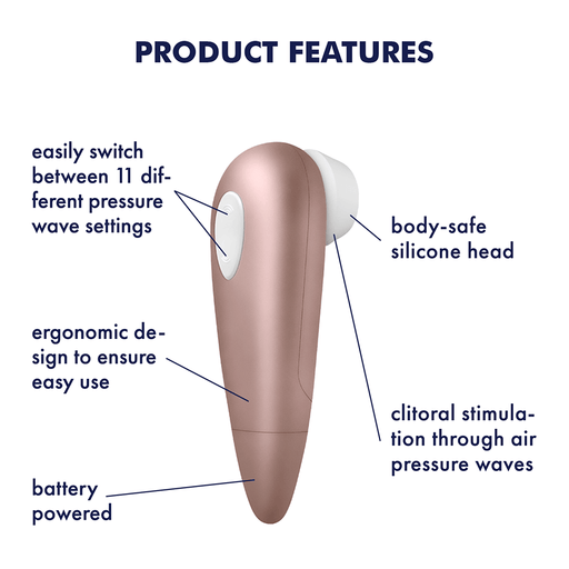 Satisfyer Number One Luchtdruk Vibrator - Erovibes.be