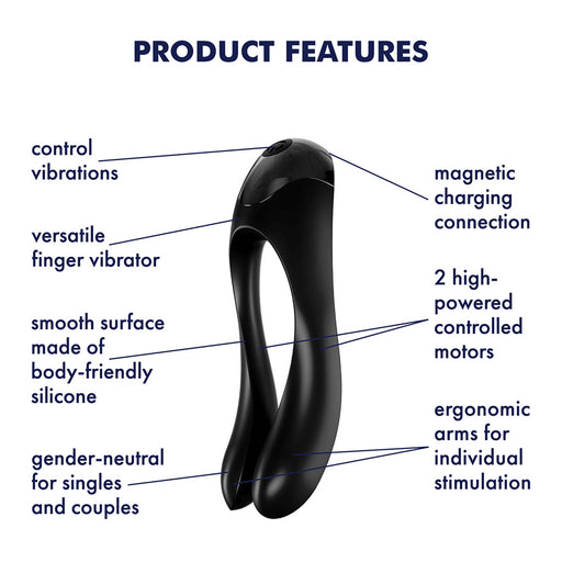 Satisfyer Candy Cane Vinger Vibrator - Erovibes.be