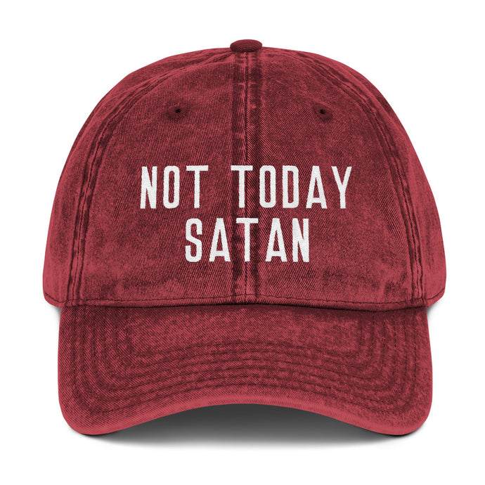 Not Today Satan Vintage Cotton Twill Cap