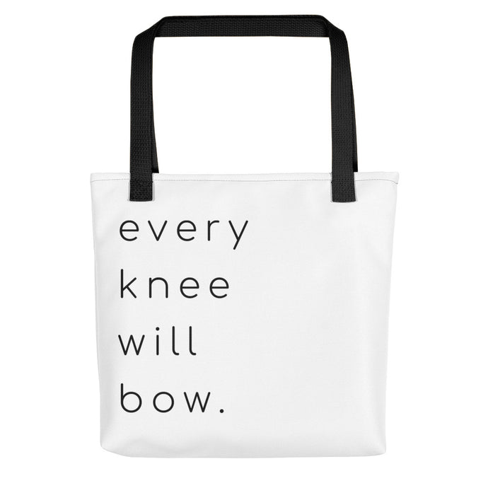 Every Knee Will Bow Tote bag