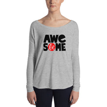 Load image into Gallery viewer, Be Awesome Ladies' Long Sleeve Tee, Anti Bullying, Motivational
