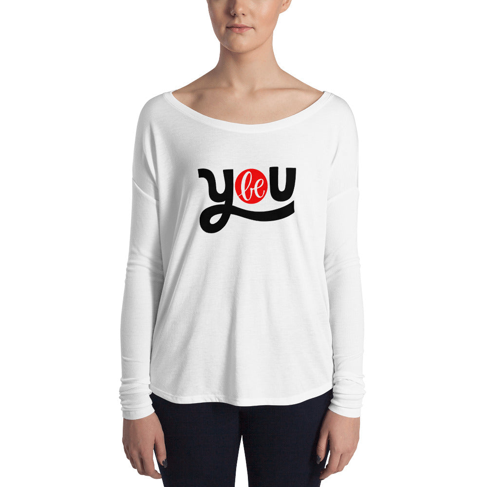 Be You Ladies' Long Sleeve Tee, Be You Tiful, Antiy Bullying, Motivational Tee