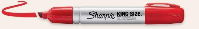 King Size - Röd | 12-pack Pennor Sharpie