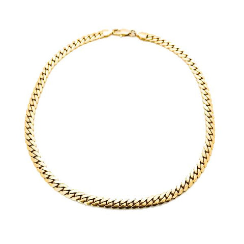 FLAT CUBAN NECKLACE
