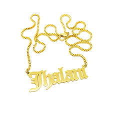 14K NAMEPLATE NECKLACE