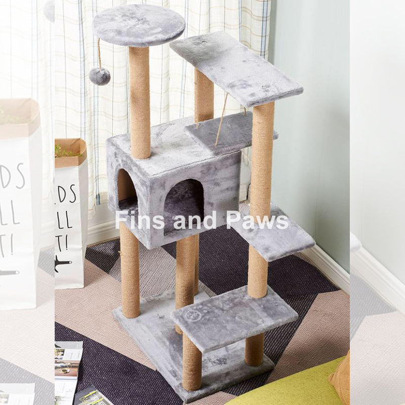 [Cuddly Paws] Deluxe 130cm Cat Scratch Tower
