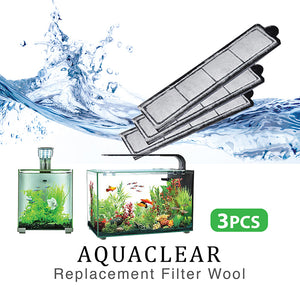 [Aquasyncro] 3pcs Replacement Filter Wool for Aquaclear Designer Fish Tank