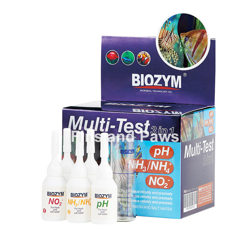 [Biozym] 3-in-1 Aquarium Liquid Test Kit (pH, Ammonia and Nitrite)