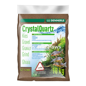 [Dennerle] Crystal Quartz Gravel - Dark Brown 5kg / 10kg