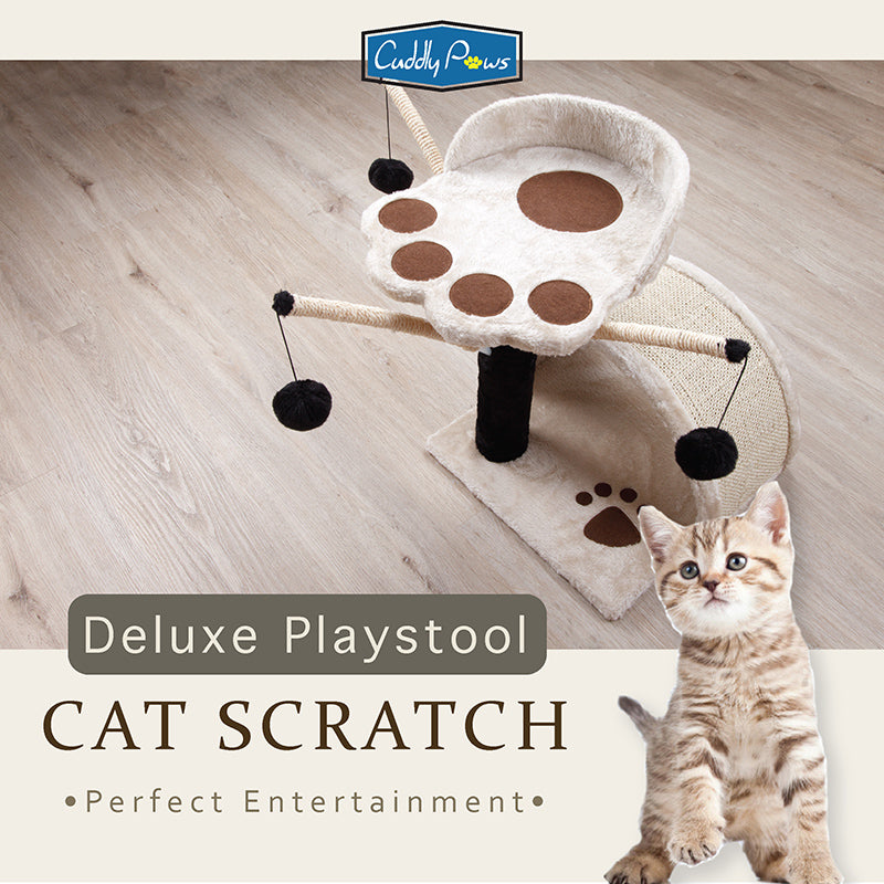 [Cuddly Paws] Deluxe Play-Stool Cat Scratch
