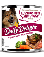 Load image into Gallery viewer, [Daily Delight] Wet Dog Food 700g (Assorted Flavours)