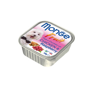 [Monge] Buy 14 Free 2! Wet Dog Food Tray (Pate with Chunkies / Fruit Tray - Assorted Flavours)