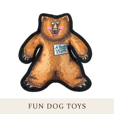 [Fuzzu] PIERRE BEAR Dog Toy with Squeaker