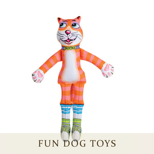 [Fuzzu] SOCKS Dog Toy with Squeaker