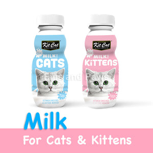 [Kit Cat] 100% Natural Milk for Cats and Kittens. 1 CARTON (250ml x 12bottles)