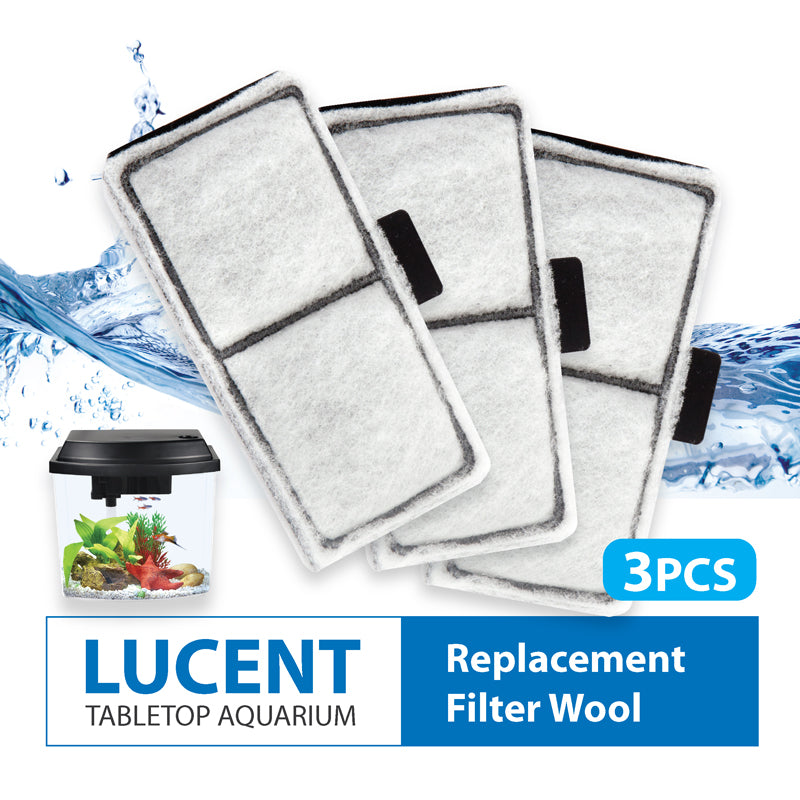 [Resun] 3pcs Replacement Filter Wool for Tabletop Aquarium Fish Tank 3.8L / 9.5L