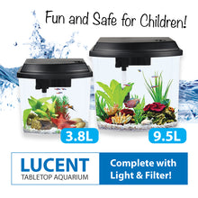 Load image into Gallery viewer, [Resun] 3.8L/9.5L Tabletop Aquarium Fish Tank (with LED Lights and Filter)