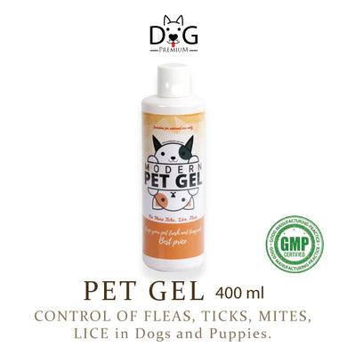 [Dog Premium] Pet Gel Shampoo 400ml (for Ticks, Fleas, Mites and Lice)