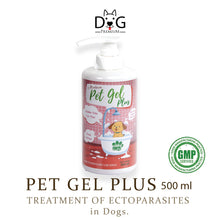 Load image into Gallery viewer, [Dog Premium] Pet Gel Plus Shampoo 500ml (for Ectoparasites; Ticks, Fleas, Mites, Lice and more)
