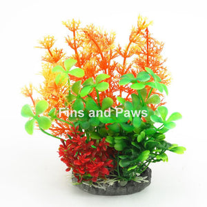 [Acquanova] Tropical Paradise Aquarium Plastic Plants (9x6.5x15cm)