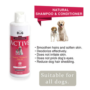 [Dog Premium] Natural Shampoo and Conditioner 400ml