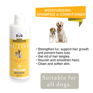 [Dog Premium] Moisturizing Shampoo and Conditioner 400ml